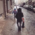 Sağanak yağmur bastırmak için 24 saatlik günün benim çocukları topladığım…